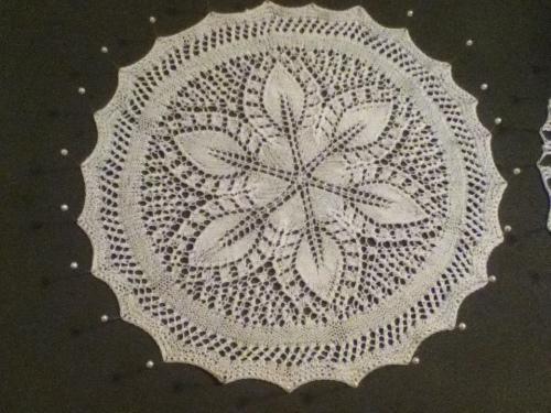 Lacy Petals knit doily