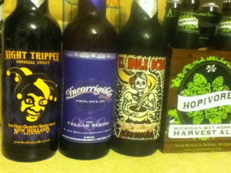 New Holland: Night Tripper, Ingorrigible, El Mole Ocho, Hopivore