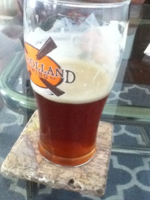 Yummy, almost full glass of Duke's somethings a-rye ipa