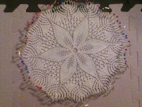 Julie knit doily