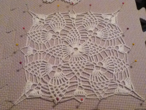 Pineapple Square doily