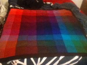 hue shift afghan knitting knit picks brava