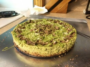 green tea kit kat cheesecake yum