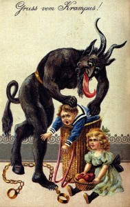 Krampus holiday greeting card